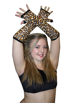 Neu Original Leopard Tier Druck Handschuhe Halloween Kostüm Gothic - Original Tier Kostüm