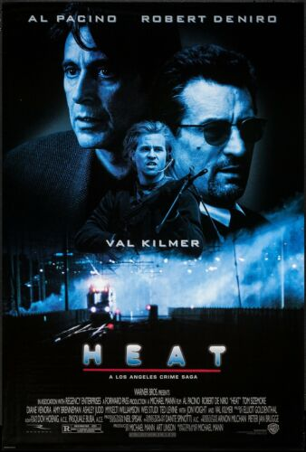 HEAT (1995) ORIGINAL MOVIE POSTER  -  ROLLED      + BONUS INTL. ROLLED ONE SHEET