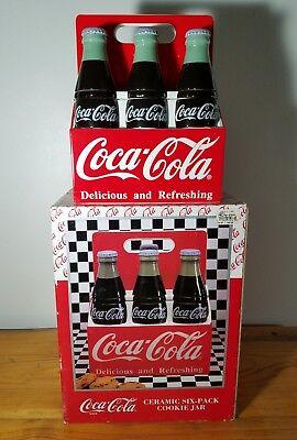 Coca Cola Coke Bottle Six Pack Cookie Jar - Never Used /w Box (1996)