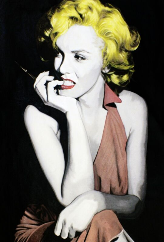 "Steve Kaufman ""marilyn - Anticipation Iii"" 