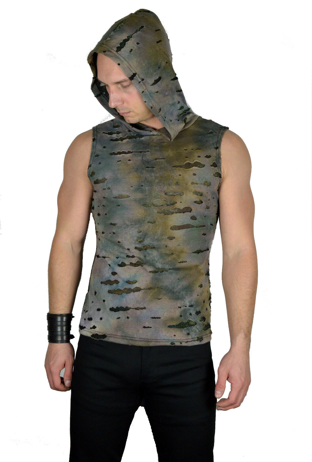 SHRINE DECAYED GREEN CAMO ROCK GOTHIC CYBER PUNK STEAMPUNK SHIRT HOODIE ZOMBIE Activewear