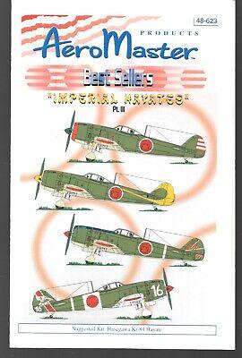 Aeromaster Imperial Hayates Part 3 Decals AN48623 Hasegawa Ki-84