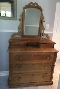 Beautiful Antique Vintage Rustic Mirror/Dresser  Go Back In Time