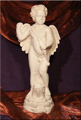 Engel mit Bogen Figur Amor Skulptur Gartenfigur Geschenk Kunstharz ()