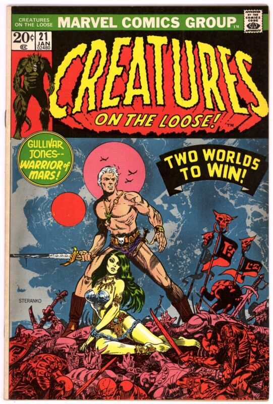 Creatures on the Loose (1971) #21 VF/NM 9.0 Jim Steranko Cover Gullivar Jones