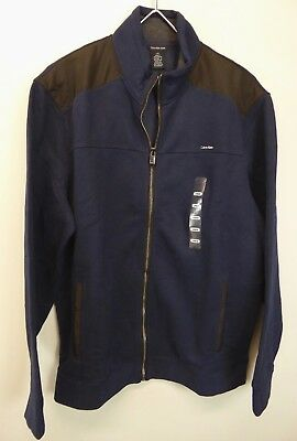 Calvin Klein Jeans Full Zip Fleece Lined Sweater Jacket Swacket Nylon Trim NWT - Lined Nylon Sweater