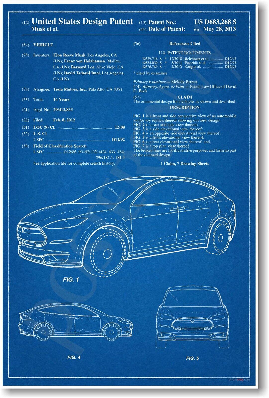 tesla model x patent