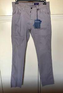 Pantaloni-uomo-Jeckerson-grigi-jeans-5-tasche-taglia-36-50