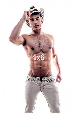 Shirtless Hairy Chest Cowboy Hunk N Tight Jeans Beefcake Gay Interest 4x6 Photo