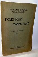 A.momigliano Polemiche Manzoniane Napoli 1916 -  - ebay.it