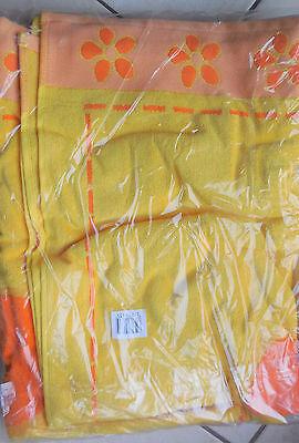 Grand drap de plage ton jaune orange Neuf 100 X 180