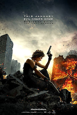 Movie Poster Original Resident Evil The Final Chapter 27X40 Ss