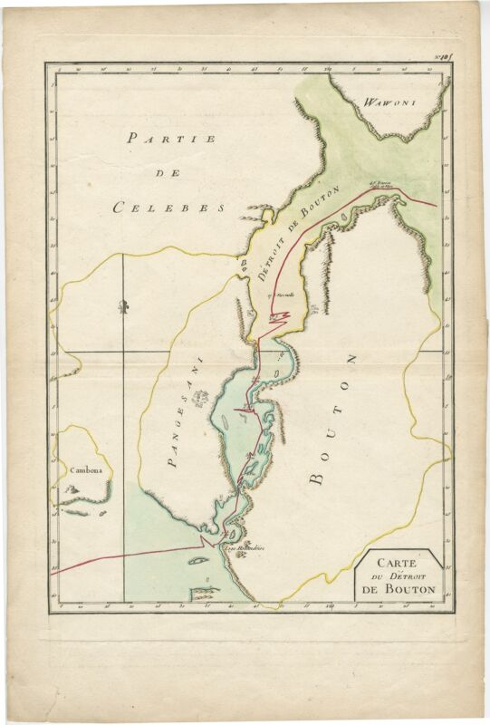 Antique Map of the Buton Strait by Philippe (1787)