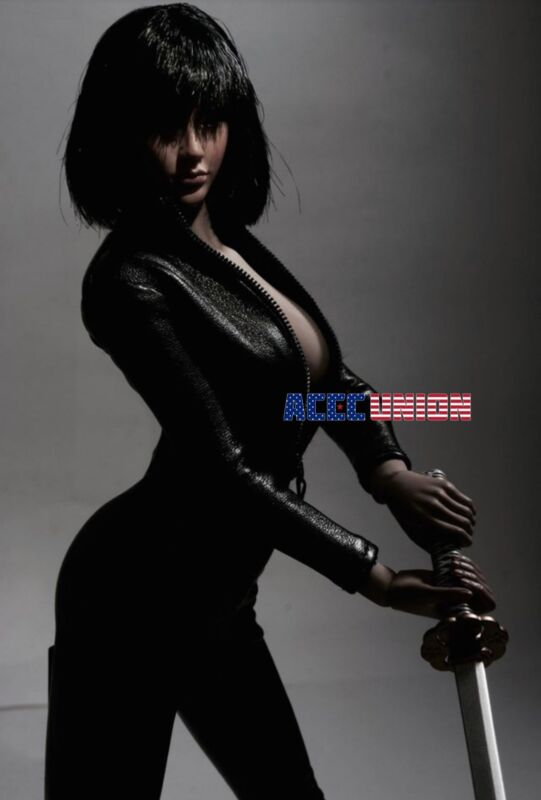 """1//6 Leather Ankle Boots Black For 12/"""" PHICEN TBL Hot Toys Female Figure ❶USA❶"""