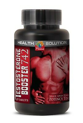 Testosterone Hair Growth   Testobooster 742Mg 1B   Horny Goat Weed And Yohimbe