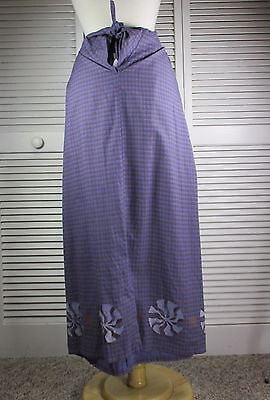 Tie Waist Skirt - Purple Plaid S/2 by Blue Fish / Barclay Studio (S/ GPA)
