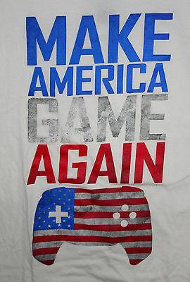 Donald Trump Spoof Video Homage Parody Make America Game Again T-Shirt New Sz LG