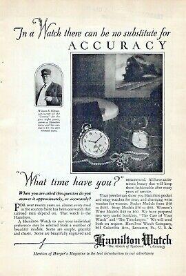 Hamilton Watch Railroad Accuracy 1926 Vintage Pocket Timekeeper Advertisement L1