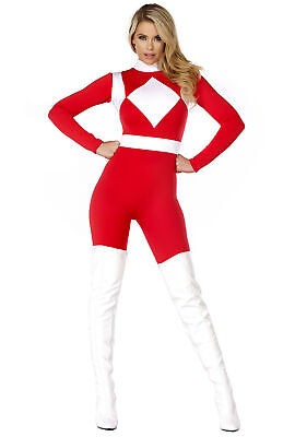 Sexy red womens power ranger catsuit - Sexy Power Ranger Kostüm