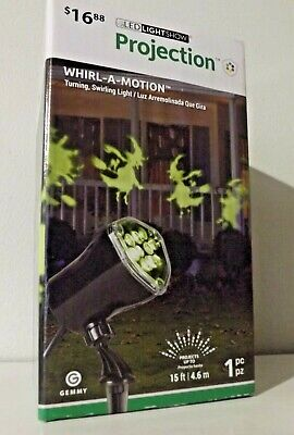 NEW HALLOWEEN PROJECTION LIGHT SHOW WHIRL-A-MOTION SWIRLING LED LIGHTS WITCHES