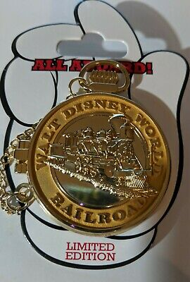 Disney Pins - WDW - WDW Railroad Pocket Watch - Mickey Mouse - LE1000