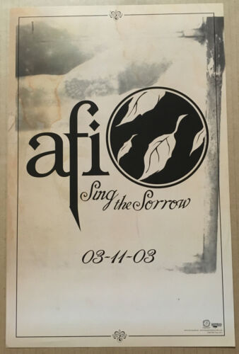 AFI Rare 2003 PROMO POSTER w/ RELEASE DATE for Sing CD 11x17 NEVER DISPLAYED USA
