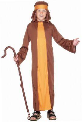 Smiffys Kinder Jungen Schäfer Kostüm, Robe und Kopfbedeckung, Größe: S, - Kind Braune Robe Kostüm