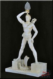 Griechische Lampe Stehlampe Koloss von Rhodos Skulptur Beleuchtung Kunstharz