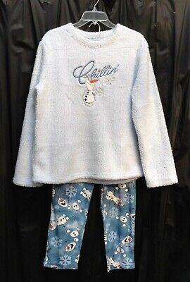 Olaf Frozen 2 Disney Chillin Kunstpelz Sherpa / Minky Vlies Pyjama ~XL 16 18~