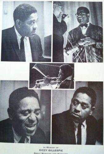 Vintage Lithograph Dizzy Gillespie, jazz/bop trumpeter 1960s