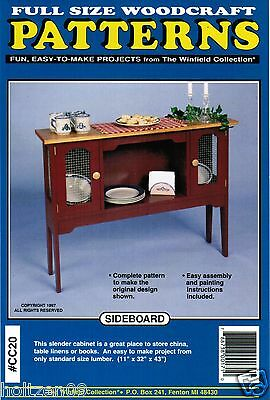 - Sideboard Cabinet Woodworking Plans The Winfield Collection