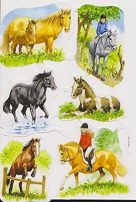1 Bogen Glanzbilder Scraps Poesie Pferde Egmont Scandinavien Nr.469