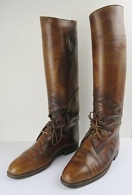 808859b7ae85 VTG Casa Fagliano Brown Leather Equestrian Polo Riding Mens Boots   shoe  forms