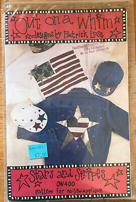 Sewing Pattern Stars And Stripes By Out On A Whim - $6.70