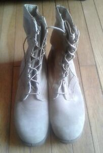 Man's military  tan suede (split leather ) size 9 n desert boots