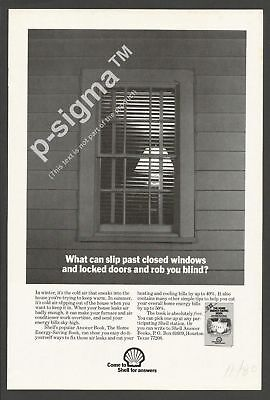 SHELL answer book - THE HOME ENERGY-SAVING BOOK - 1980 Vintage Print Ad