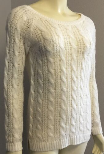 Girls Abercrombie Kids Wool Blend Cable Knit Light Pullover Tunic Sweater Size L