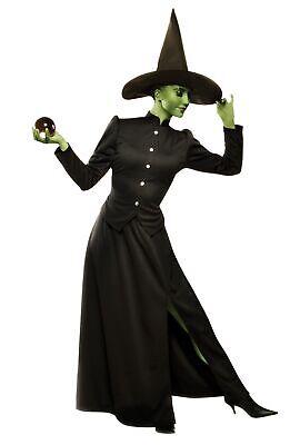 Klassische Hexe Erwachsene Damen Kostüm Böse Schwarz Zauberer von oz Halloween
