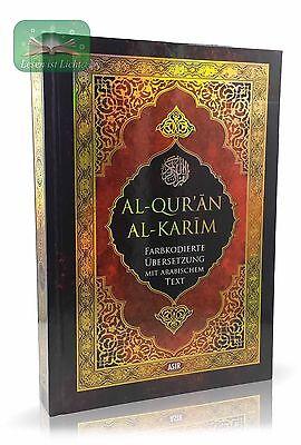 Koran Arabisch - Deutsch Farbkodierte Übersetzung Kuran Qoran Quran Islam