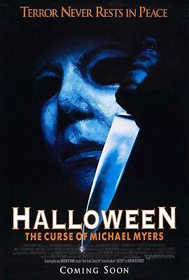 Halloween 6 Movie Poster (Movie Poster 1995 John Carpenter Halloween 6-The Curse Of Michael Myers 3)