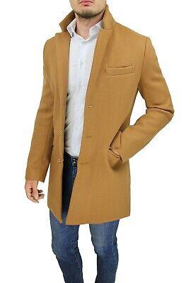 Cappotto uomo Diamond Class beige cammello giacca lunga soprabito elegante