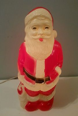Vintage Christmas SANTA BLOW MOLD LIGHT UP UNION PRODUCTS INC LEOMINSTER MA.