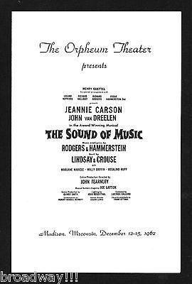 "Jeannie Carson ""SOUND OF MUSIC"" Rodgers & Hammerstein 1962 Madison, Wisconsin"