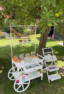 Candybar Vintage Hochzeitsdeko Dekoverleih Candy Bar Deko mieten#