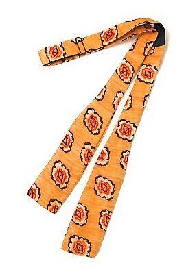 Bow Tie Adjustable Self Tie Orange With Red Black & White Printed Design