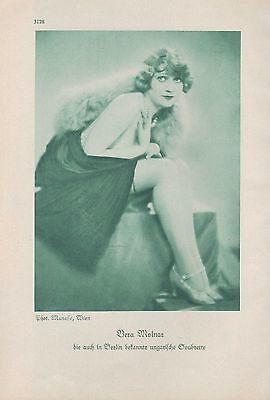Werbung 1929, Bildnis Portrait Fotografie der Soubrette Vera Molnar Ungarn