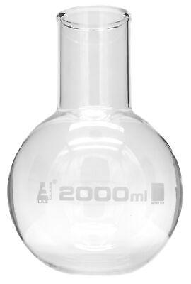 Boiling Flask 2000ml Borosilicate Glass Wide Neck Round Bottom - Eisco Labs