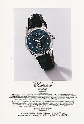 2001 Watches Uhren Catalogue Katalog Chopard 1000 Miglia Roadbook