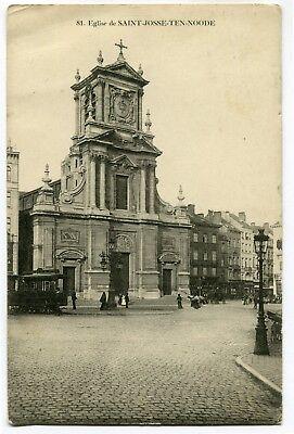 CPA - Carte Postale - Belgique - Bruxelles - St-Josse-ten-Noode - Eglise - 1914