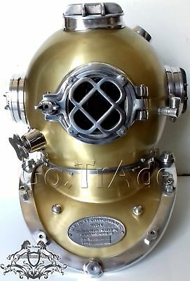 Vintage Antique Morse U.S Navy Diving Divers Helmet Solid Steel & Aluminium Gift